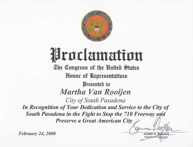 United States Congressional Proclamation